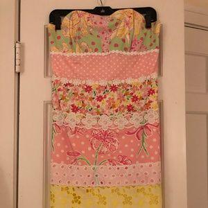 Lilly Pulitzer Multi-Pattern Strapless Dress